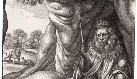 Wenceslas Hollar - The fox and the lion