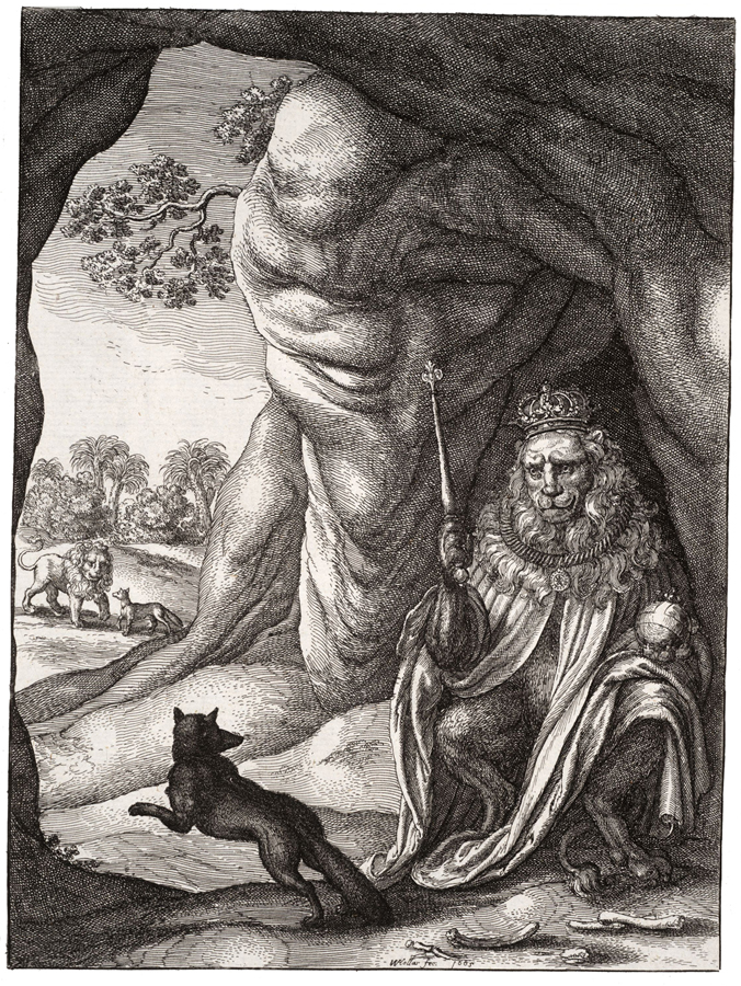 Wenceslas Hollar - The fox and the lion